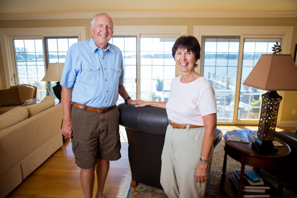 Gary and Beverly Zell in their Holland home.