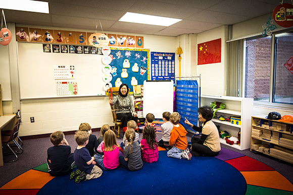 Lessenger Elementary's Chinese Immersion Class