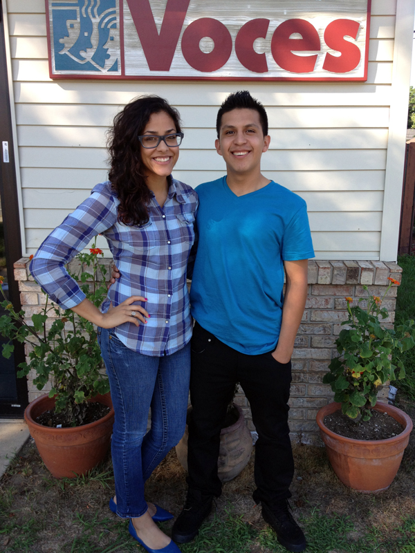 Carla Fern�ndez-Soto, left, and Antonio Carrillo
