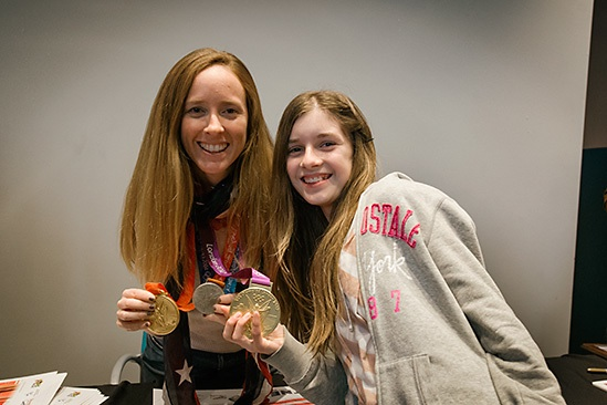 MCWT STUDENT WITH OLYMPIC MEDALIST MARY WHIPPLE