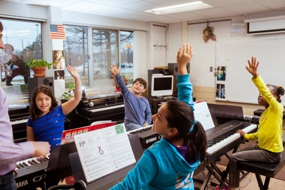 Piano Labs at Woods Lake Elementary School