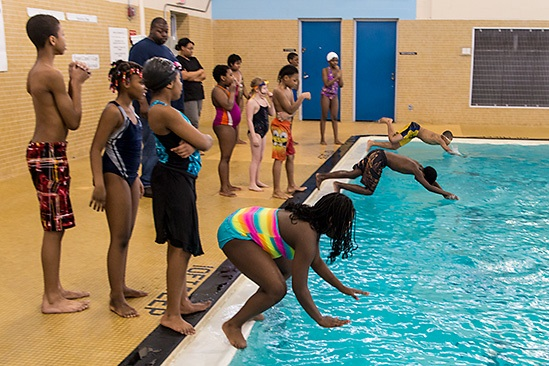 Detroit Swims, Burton International Academy